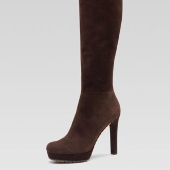 ac72712f2996f Gucci Suede Anouk Knee High Boot